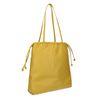 Gelbe Schultertasche aus Leder