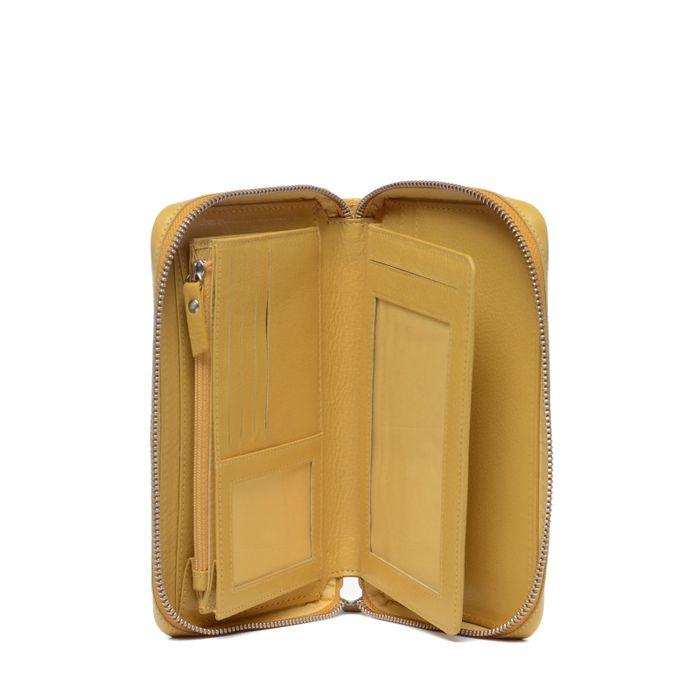 Gelbe Ledergeldbörse