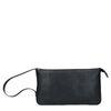 Schwarze Lederhandtasche