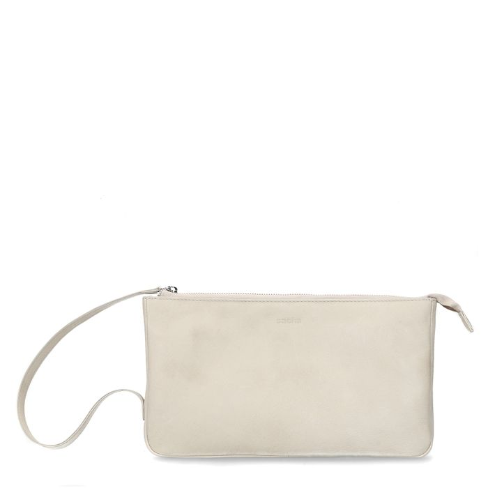 Offwhite Lederhandtasche