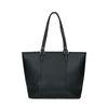 Schwarze Handtasche mit silbernen Details
