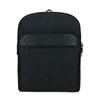 Schwarzer Lederrucksack mit Laptopfach