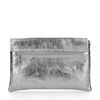Silberfarbene Metallic-Clutch