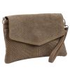Snake Clutch - taupe