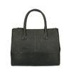 Schwarze Leder-Handtasche mit Schlangenmuster