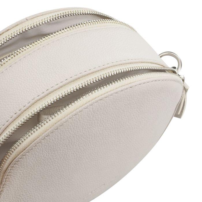 Runde weiße Schultertasche