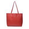 Rote Handtasche mit Clutch