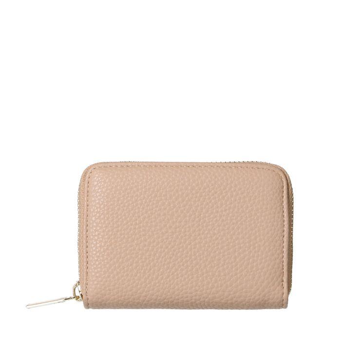Rosa Portemonnaie mit goldenem Reißverschluss