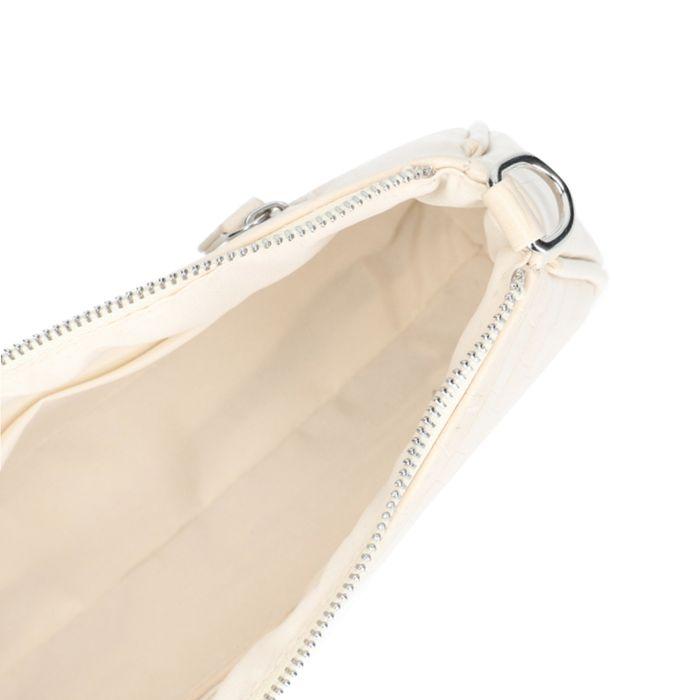 Offwhite Tasche mit Krokomuster