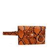 Orangefarbene Gürteltasche mit Schlangenmuster