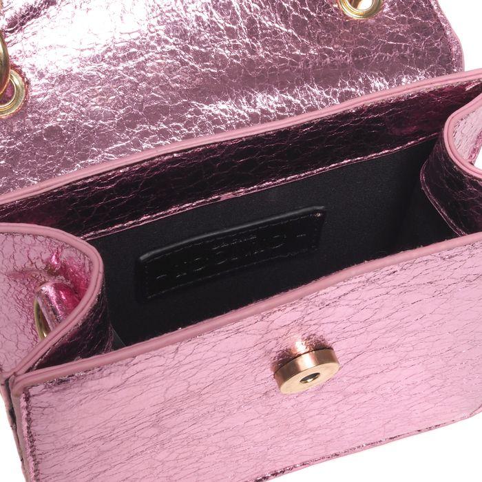 Tasche in Metallic-Rosé