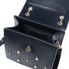 Schwarze Schultertasche mit Perlen