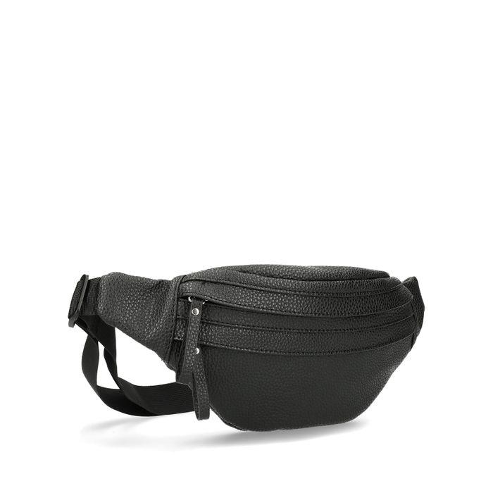 Schwarze Gürteltasche aus Leder