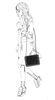 Schwarze Schultertasche mit Kette