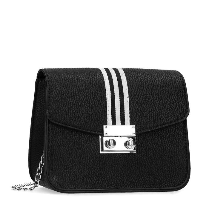 Sacha x Luxblog Schwarze Schultertasche mit sporty Stripe
