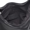 Sacha x Vivian schwarze Schultertasche aus Leder
