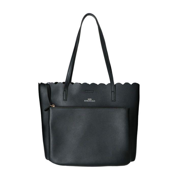 Schwarze Tasche mit Clutch