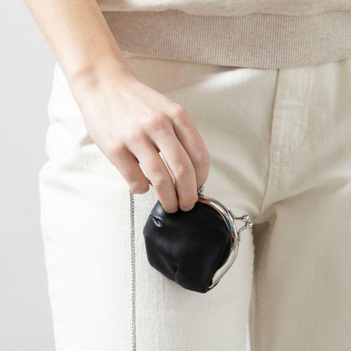 Schwarzes Portemonnaie mit Schlaufe