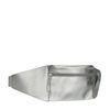 Silberne Gürteltasche mit Kroko-Detail