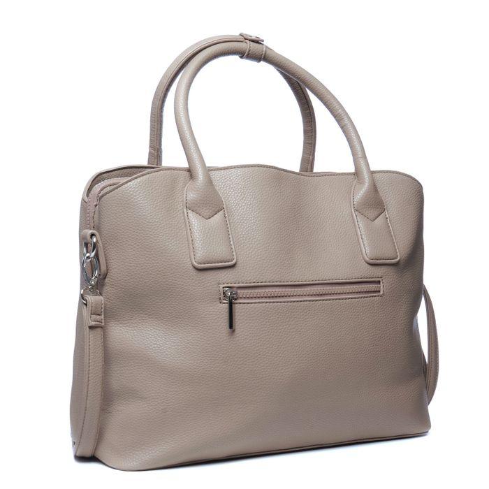 Taupefarbene Handtasche