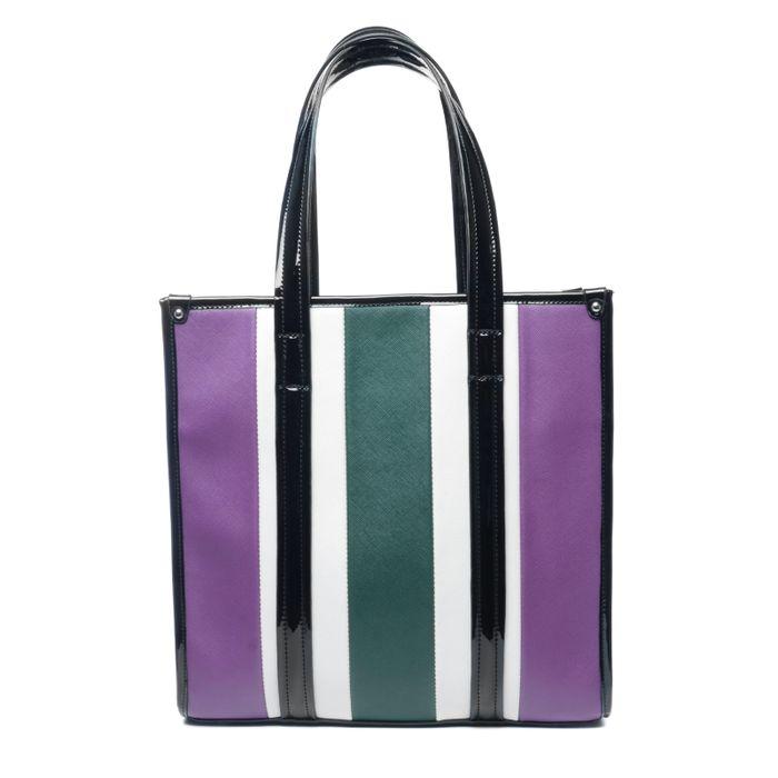 Shopper mit lilafarbenen Streifen