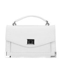 69917b0e08c9f7 Weiße Handtasche mit Krokomuster 46,99
