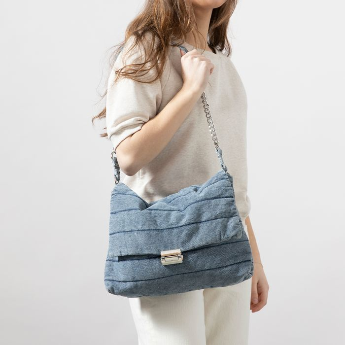 Schultertasche in Denim-Optik