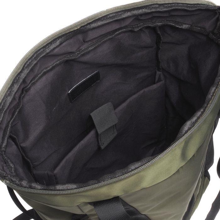 Dunkelgrüner Rucksack mit Laptopfach