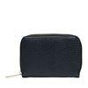 Schwarzes Portemonnaie mit goldenem Reißverschluss