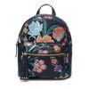 Kleiner schwarzer Rucksack mit Blumenmuster