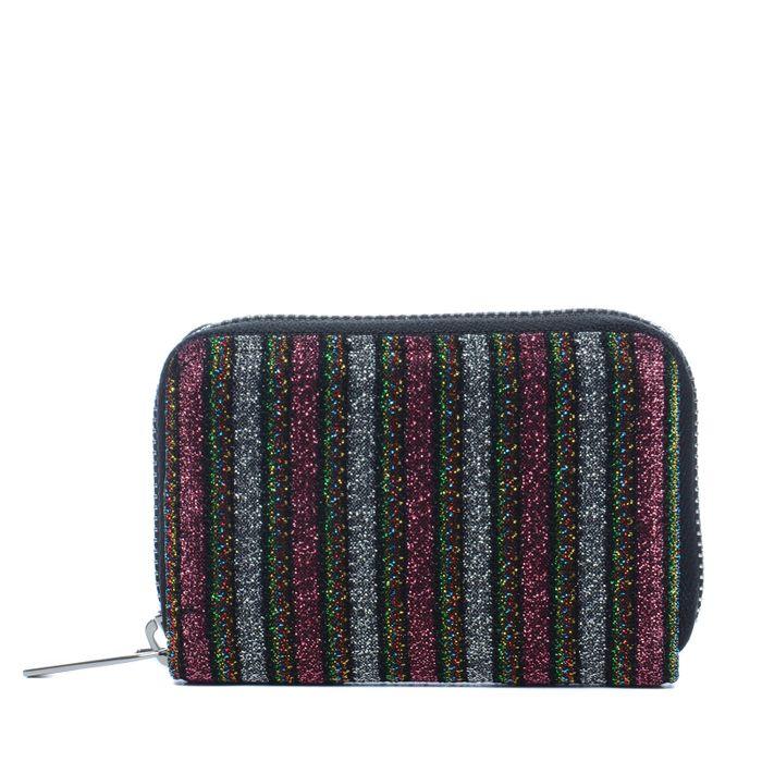 Kleines Portemonnaie mit Glitzer und Streifen