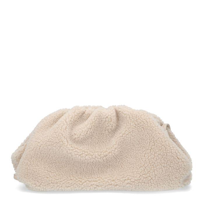 Offwhite Tasche in Teddy-Optik