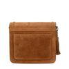 Cognacfarbene Veloursleder-Tasche im Western-Style
