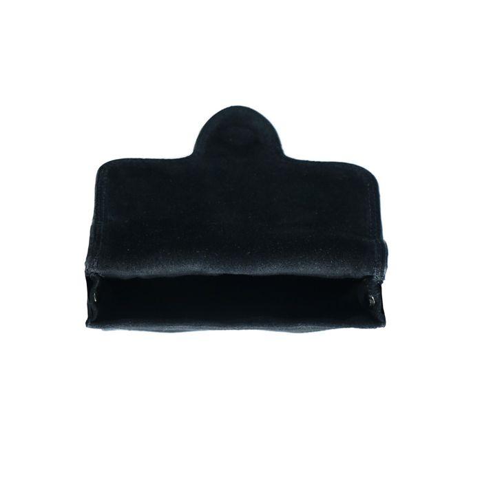 Schwarze Veloursleder-Schultertasche