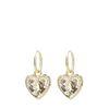 Goudkleurige oorbellen met hartvormige hanger