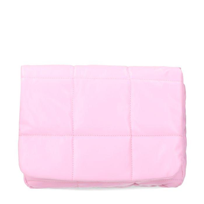 Roze puffer schoudertas