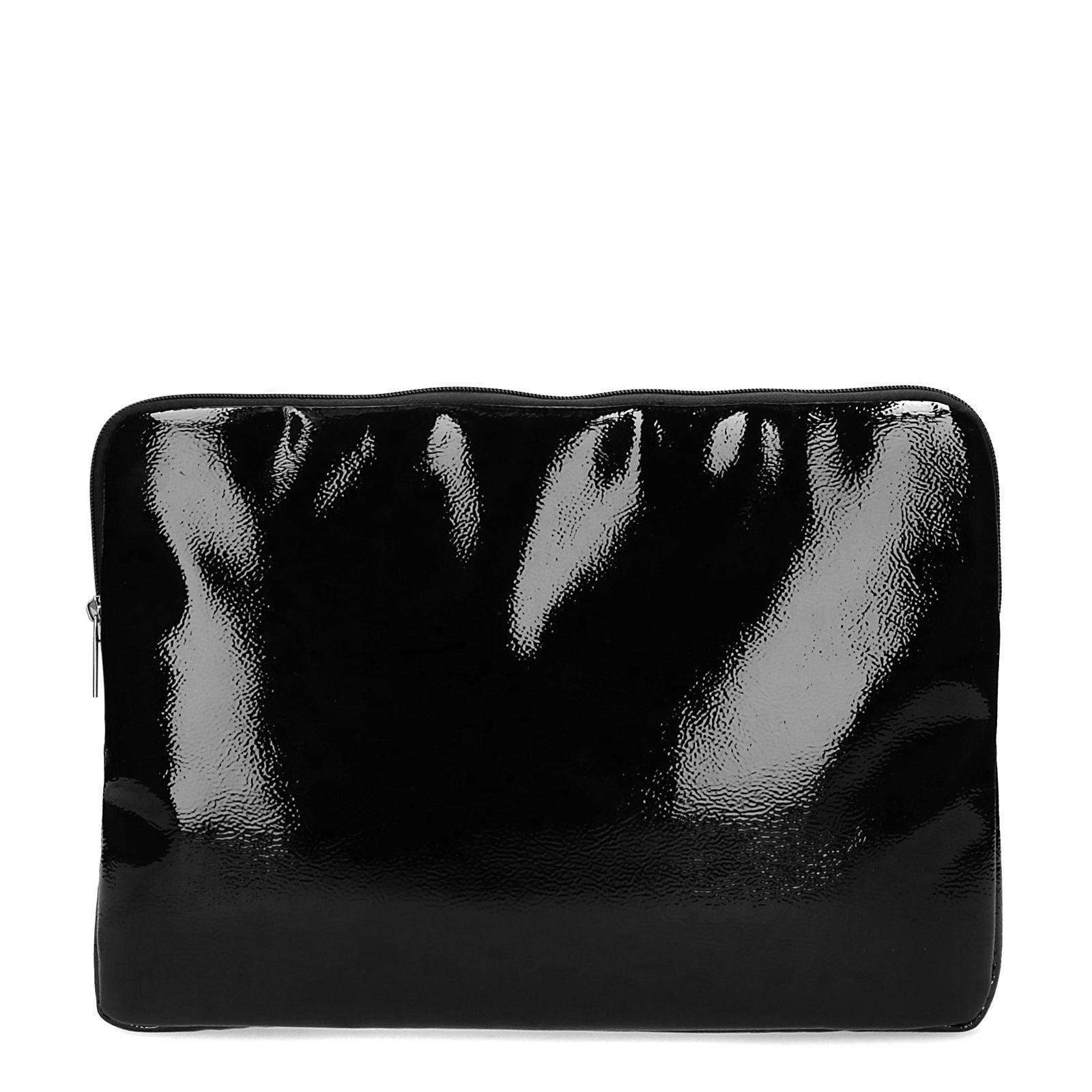 Lak zwarte laptop tas