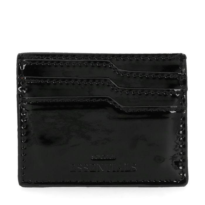 Zwarte lak cardholder