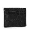 Zwarte cardholder met crocoprint