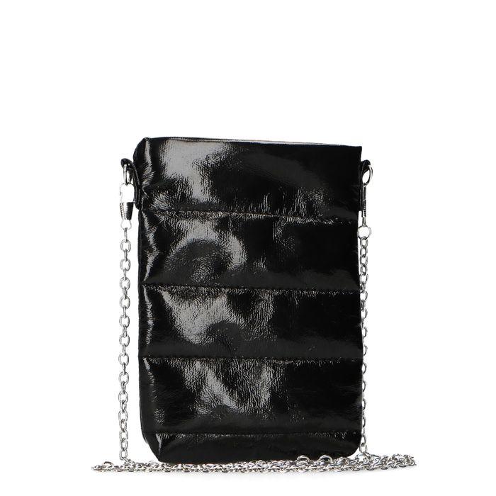 Zwarte lak schoudertas