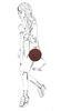 Bordeaux rode ronde schoudertas