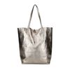 Metallic bronzen shopper