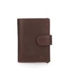 Donkerbruine portemonnee met cardprotector