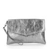 Metallic zilveren clutch