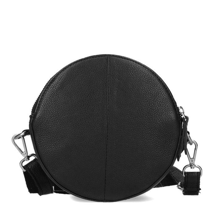 Zwart rond schoudertasje