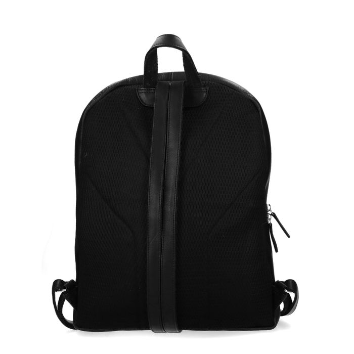 Zwarte rugzak met laptopvak