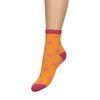 Oranje sokken met glitter detail en stippen