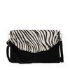 Zwarte clutch met zebra print