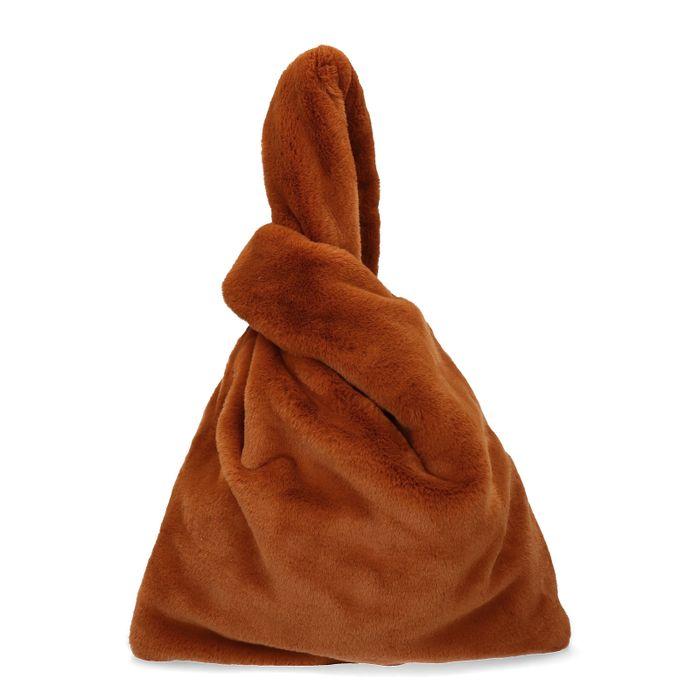Bruine fluffy tas