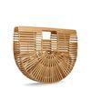 Ronde bamboe handtas